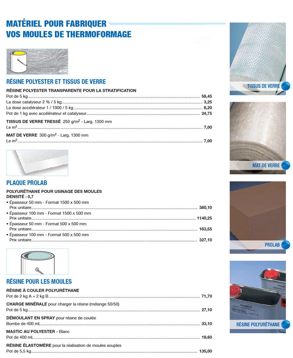 Matériel pour fabriquer vos moules de thermoformage