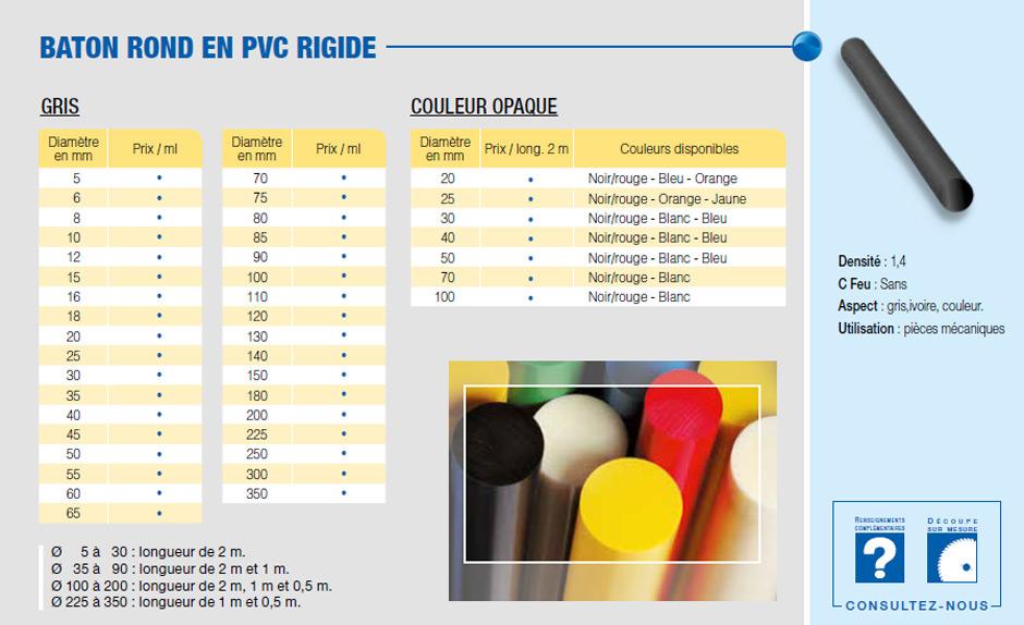 Bâton PVC rigide