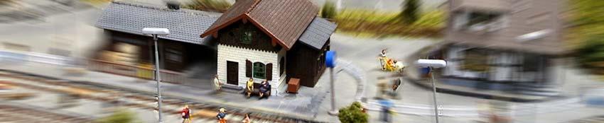 Maquette d'une gare