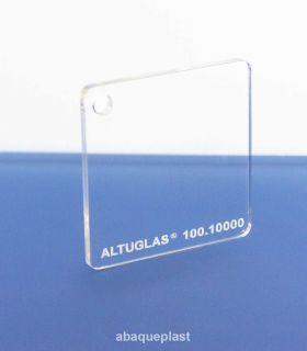 """Altuglas® 100.10000 - Plaque en PMMA transparent plexi coulé Altuglas CN - """"10010000"""" - """"100-10000"""""""