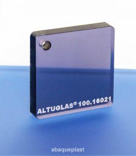 Altuglas® 100.16021 - Plaque PMMA coulé fumé gris bleu - Altuglas® CN - 10016021 - 100-16021