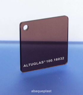 Altuglas® 100.16032 - Plaque PMMA coulé fumé marron foncé Altuglas® CN - 10016032 - 100-16032