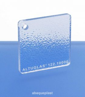 Altuglas® 122.10000 - Plaque PMMA coulé transparent granité 2 faces Altuglas® CN - 12210000 - 122-10000...