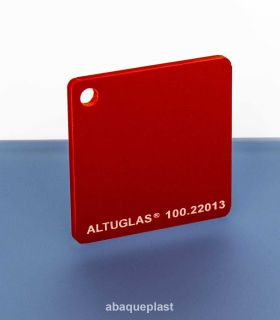 Altuglas® CN 100.22013 - Plaque PMMA diffusant rouge coulé - Altuglas CN - 10022013 - 100-22013...
