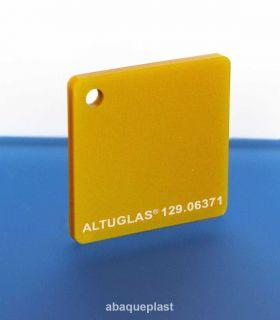 Altuglas® 129.06371 Or - Plaque PMMA métallic coloré spéciaux coulé - CN  - 12906371 - 129-06371...