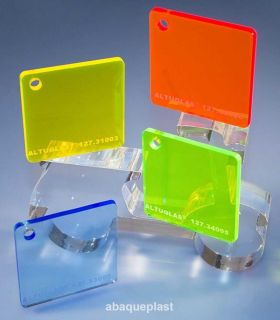 Altuglas® - Plaque PMMA coulé   transparent coloré fluo - Altuglas® CN