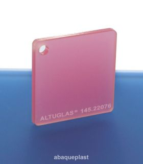 Altuglas®-145.22076-Plaque PMMA coulé rose dual satin Altuglas® CN - 14522076 - 145-22076...
