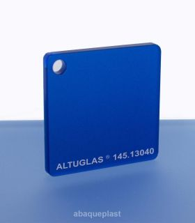 Altuglas®-145.13040-Plaque PMMA coulé rouge dual satin Altuglas® CN - 14513040 - 145-13040...