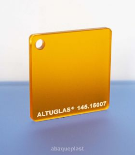 Altuglas®-145.15007-Plaque PMMA coulé orange dual satin Altuglas® CN - 14515007 - 145-15007...