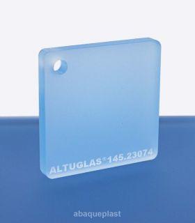 Altuglas®-145.23074-Plaque PMMA coulé bleu clair dual satin Altuglas® CN - 14523074 - 145-23074...