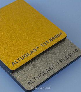 Plaque PMMA coulé Altuglas® CN Metallic or et argent