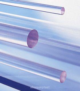 Bâton polycarbonate extrudé transparent incolore