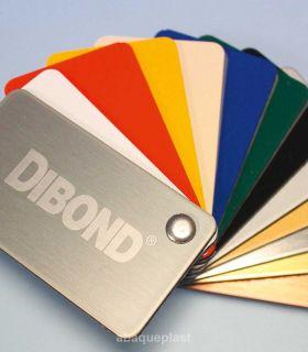 Plaque sandwich blanc et couleur en alu/PE - Dibond®