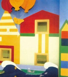 Plaque PVC rigide couleur - décoration