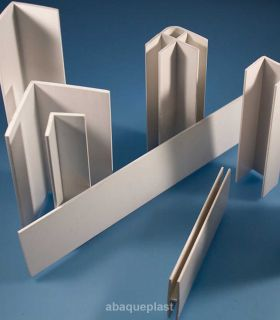 Profilé PVC rigide blanc