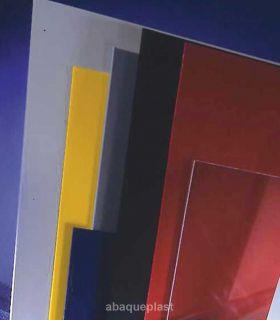 Plaque PVC rigide couleur, blanc et gris