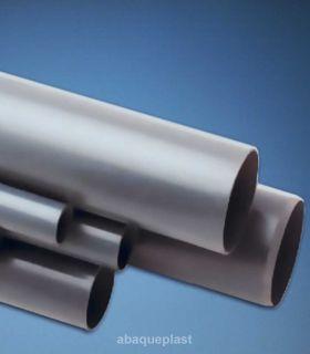Tube PVC gris rigide - série ventilation