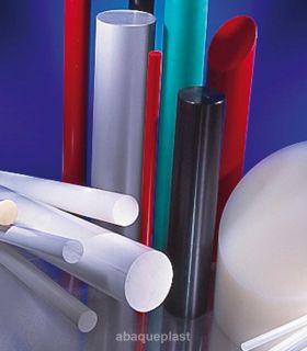 Bâton polyéthylène extrudé blanc et noir - PEHD 300