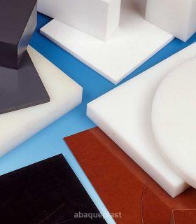 Plaque polyéthylène pressé raboté blanc naturel - PEHD 500