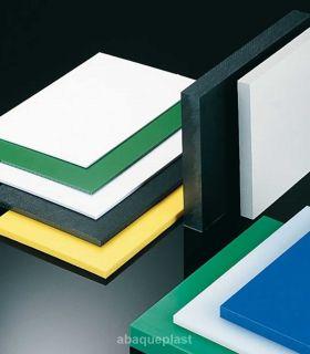 Plaque polyéthylène blanc naturel - PEHD 1000 pressé