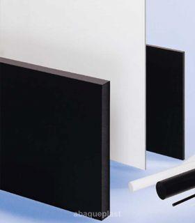 Plaque polyacétal POM C Extrudé blanc et noir
