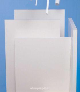 Plaque PETP extrudé blanc et noir - type Arnite®