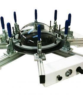Unité de soufflage de demi-sphères - Cr-clarke 650 pour la fabrications des demi-sphères en plastique.