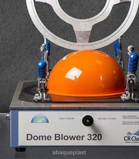 Unité de soufflage de demi-sphères - Cr-clarke 320 pour la fabrications des demi-sphères en plastique.