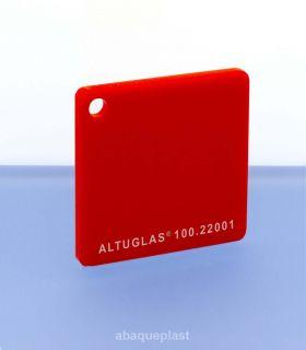 Altuglas® CN 100.22001 - Plaque PMMA diffusant rouge coulé - Altuglas CN - 10022001 - 100-22001...