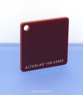 Altuglas® CN 100.22003 - Plaque PMMA diffusant rouge coulé - Altuglas CN - 10022003 - 100-22003...