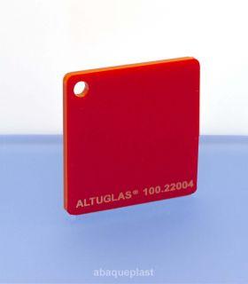 Altuglas® CN 100.22004 - Plaque PMMA diffusant rouge coulé - Altuglas CN - 10022004 - 100-22004...