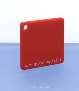 Altuglas® CN 100.22006 - Plaque PMMA diffusant rouge coulé - Altuglas CN - 10022006 - 100-22006...