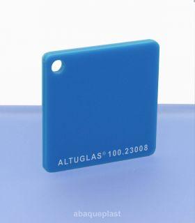 Altuglas® CN 100.23008 - Plaque PMMA diffusant bleu coulé - Altuglas CN - 10023008 - 100-23008...
