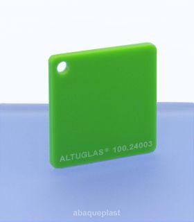 Altuglas® CN 100.24003 - Plaque PMMA diffusant vert coulé - Altuglas CN - 10024003 - 100-24003...