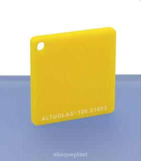 Altuglas® CN 100.21003 - Plaque PMMA diffusant jaune coulé - Altuglas CN - 10021003 - 100-21003...