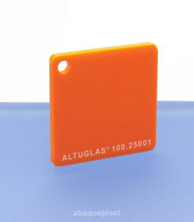 Altuglas® CN 100.25001 - Plaque PMMA diffusant orange coulé - Altuglas CN - 10025001 - 100-25001...