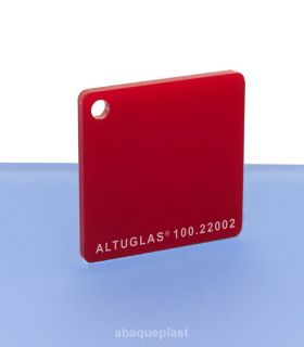 Altuglas® CN 100.22002 - Plaque PMMA diffusant rouge coulé - Altuglas CN - 10022002 - 100-22002...