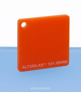 Plaque mono satin orange led - 121.25050
