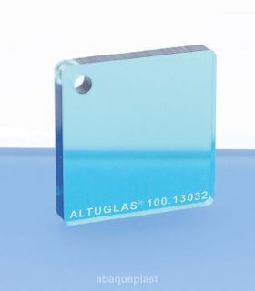 Plaque PMMA couleur couleur transparent aqua look - 100.13032