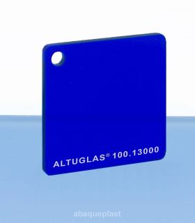 Plaque PMMA couleur couleur transparent bleu - 100.13000