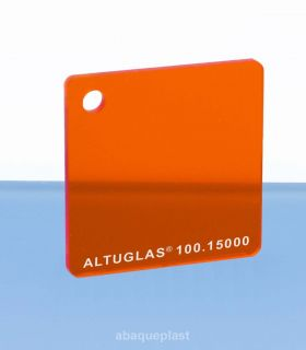 Plaque PMMA couleur couleur transparent orange - 100.15000