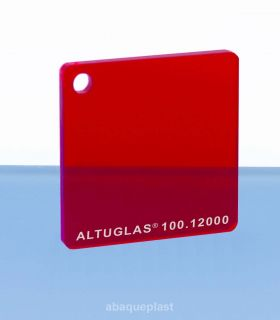 Plaque PMMA couleur couleur transparent rouge - 100.12000