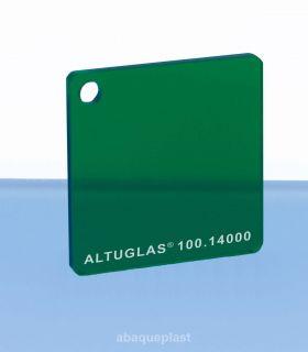 Plaque PMMA couleur couleur transparent vert - 100.14000