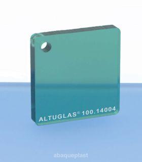 Plaque PMMA couleur couleur transparent vert - 100.14004