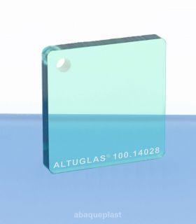 Plaque PMMA couleur couleur transparent vert - 100.14028