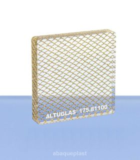 Altuglas® - Plaque PMMA coulé Altuglas® CN Signature - Large gold grid - 175.81100 - 17581100 - 175-81100...