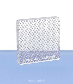 Altuglas® - Plaque PMMA coulé Altuglas® CN Signature - Large Silver Grid - 175.80600 - 17580600 - 175-80600...