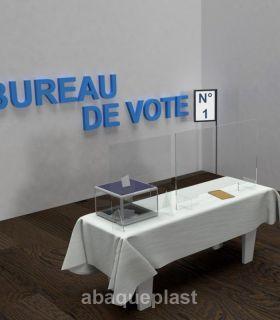 ÉCRAN DE PROTECTION pour bureau de vote – HYGIAPHONE