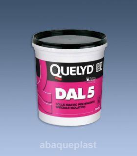 QUELYD DAL5 en pot 1 kg - Colle mastic acrylique pour le polystyrène expansé.