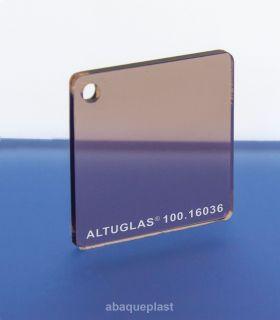 Altuglas® 100.16036 - Plaque PMMA coulé fumé marron clair - Altuglas® CN - 10016036 - 100-16036